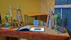 Guest Book Table Arranged