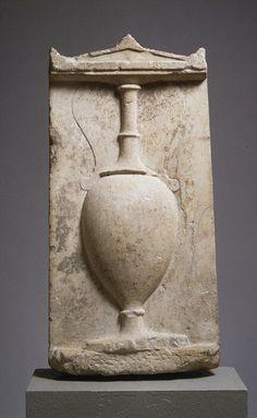 Marble stele (grave marker) of Eukleia  Period:     Classical Date:     4th century B.C. Culture:     Greek, Attic