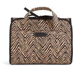 Vera Bradley Hanging Travel Organizer in Zebra ($48) ❤ liked on Polyvore featuring sale, travel and zebra