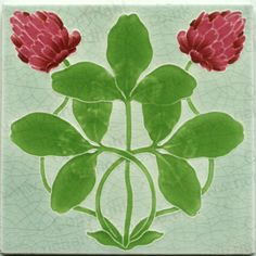 ANTIQUE c.1910 VILLEROY & BOCH ART NOUVEAU STYLISED FLORAL TILE. This item is sold, to visit my website to see what's in stock click here: http://www.richardhoppe.co.uk or for help or information email us here: info@richardhoppe.co.uk