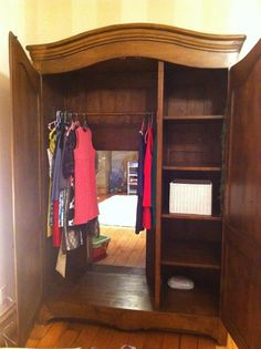 Secret passageway in wardrobe. Narnia, anyone? #thedoorinthesky #fantasy