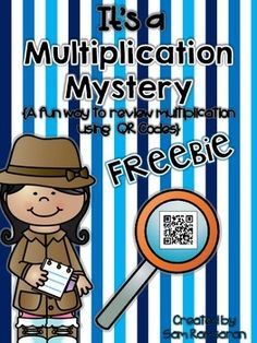 Use this review activity in your class to help your students with multiplication. Your students will love using technology on this fun qr code scavenger hunt. **You will need a digital device with a qr reader app.  The app and device are not included in this product.**