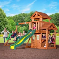 Unlock a world of imagination with the Tanglewood Play Centre.   Shop Here:  and Play Now, Pay Later with #Afterpay #humm #zip and #Laybuy  #outdoor #play #equipment #kids #swing #slide #sandpit #fort #climb #toys #australia