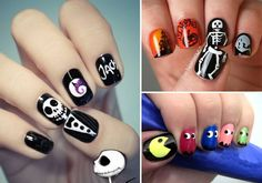 Omg i want that nightmare before xmas nail! cool nail ideas for halloween