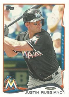 Topps Baseball 2014 271 Justin Ruggiano Miami Marlins MLB Card >>> Click image to review more details.