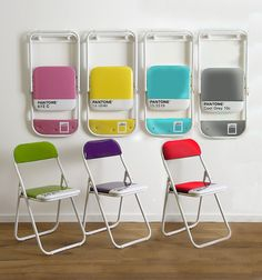 I love the Pantone coloured chairs!