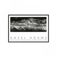 "Frames By Mail Range Clouds Framed Print by Ansel Adams - 24"" x 36"" - 3225BT-RM"