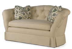 Tufted Loveseat, Ivory on OneKingsLane.com