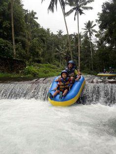Tubing at tampaksiring river