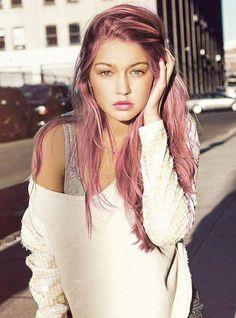 hair long pink