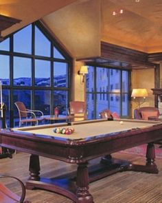 Park Hyatt Beaver Creek Resort  ( Avon, Colorado )   The billiards room is a cozy place to relax after a long day outdoors. #Jetsetter