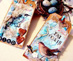 Beautiful Robin gift tags.