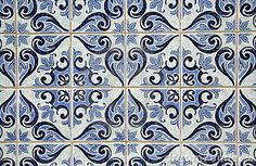 Traditional Portuguese azulejos