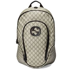 Gucci Supreme Canvas Interlocking G Logo Backpack Brown 223705 Dimensions: 14 x 8 x 18 inches (length x width x height) - medium size. Gucci, Herschel Heritage Backpack, Sling Backpack, Supreme, Dust Bag, Brown Leather, Monogram, Backpacks, Beige