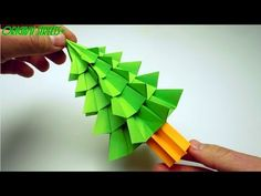How to make a Tree out of paper. Origami Tree, Origami And Kirigami, Christmas Origami, Christmas Trees, 3d Tree, Paper Crafts, Diy Crafts, Quilling, Youtube