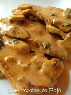 Filetes de lomo con salsa ràpida