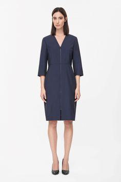 COS Zip-up wool dress