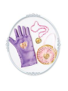 Licensed #disney rapunzel gloves bag #necklace set fancy dress #costume brand new,  View more on the LINK: http://www.zeppy.io/product/gb/2/200971455889/