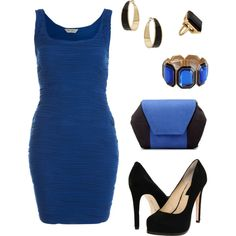 """Black and Blue"" by wonderland449 on Polyvore"