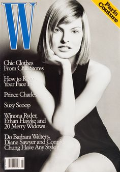 W Magazine's Supermodel Cover Girls - Linda Evangelista on the cover of W Magazine February 1994