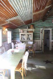 The best Corrugated tin ceiling Kitchen Colors, Kitchen Design, Aqua Kitchen, Kitchen Walls, Summer Kitchen, Kitchen Paint, Kitchen Interior, Kitchen Ideas, Country Paint Colors