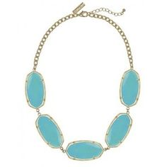 Kendra Scott Valencia Necklace in Turquoise