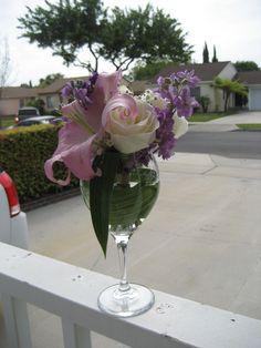 Bridal Shower Centerpiece-Wine tasting theme.
