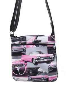 ef59cb005d USA handmade Cross Overbody Bag Pink Cadillac by HandmadeFashion Pink  Fashion