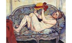 Nude Reclining on a Sofa Suzanne Valadon Date: Paris, France * Style: Post-Impressionism Paul Gauguin, Maurice Utrillo, Pierre Auguste Renoir, Collaborative Art, Oil Painting Reproductions, Art Database, Wassily Kandinsky, Gustav Klimt, French Artists