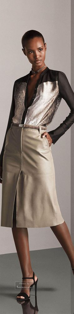 Working in Advertising...this would~ fly ~ Halston Heritage.Pre-Fall 2015.