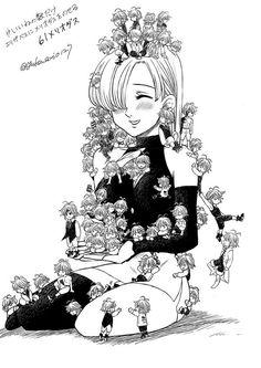 Many Meliodas hahaha Anime Echii, Anime Angel, Otaku Anime, Anime Art, Elizabeth Seven Deadly Sins, Seven Deadly Sins Anime, 7 Deadly Sins, Meliodas And Elizabeth, Elizabeth Liones