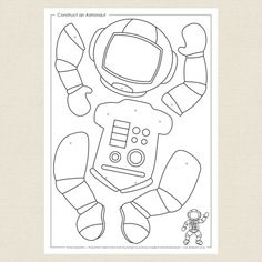 √ astronaut Coloring Pages . 7 astronaut Coloring Pages . Space Theme Preschool, Preschool Crafts, Space Crafts Preschool, Outer Space Crafts For Kids, Space Kids, Kids Crafts, Astronaut Craft, Astronaut Images, Space Coloring Pages