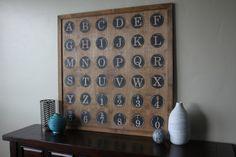 39x39 Alphabet Wall Hanging Alphabet Decor Wall by madebycortney