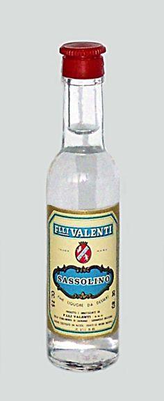 Valenti Eridanea - Mini Liquor Bottles - Sassolino - https://sites.google.com/site/valentieridanea/