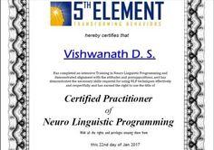 Congratulations Vishwanath D S, Senior Bureaucrat (IAS) (Retired), on receiving your Prestigious NLP Practitioner certification.  #NLP #Training from Anil Dagia in #Mumbai, #Pune ( #India ) #ICF #NLP #PRACTITIONER #DUAL #Certification #Life #Coach Training  APR #Mumbai - http://anildagia.com/training-calendar/nlp-certification/anil-dagia-s-nlp-practitioner-certification-training-apr-2017-mumbai