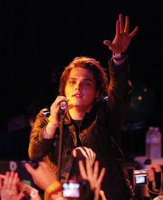 Singer Gerard Way of the band My Chemical Romance performs at the Roxy Theatre on August 1, 2009 in West Hollywood, California.