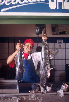 fish market vendor, Cuidad Bolivar, Venezuela