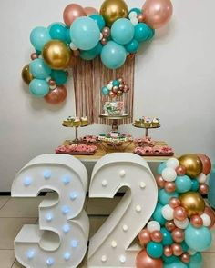Adult Birthday Party, 30th Birthday Parties, Birthday Celebration, Simple Birthday Decorations, Balloon Decorations Party, Deco Ballon, Baby Shower Balloons, Gold Party, Holidays And Events