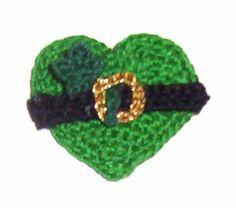 Clover Heart - free crochet pattern