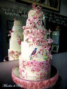 Cherry Blossom Cake for Nino and Jay Ann