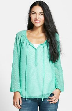 This color is everywhere and I am liking it.. Jessica Simpson 'Claudia' Peasant Top available at #Nordstrom