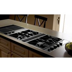 this jennair luxury gas downdraft cooktop which features sleek expressions collection styling offers four sealed burners and a powerful builtin