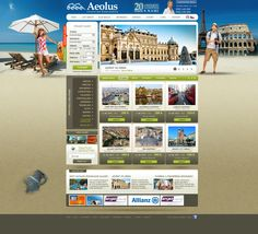 AEOLUS - TRAVEL AGENCY on Behance