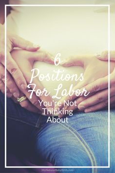 I always thought that the only option was laying down in bed.  Now I know that's exactly what I don't want to do!  I'm going to use these positions for labor for my birth every time I'm pregnant. http://mynaturalbabybirth.com/positions