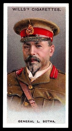 """Wills's Cigarettes """"Allied Army Leaders"""" (set of 50 issued in General Louis Botha (South Africa) British Soldier, British Army, Girl Drawing Sketches, French Army, African History, Football Cards, War Machine, Military History, Vintage Advertisements"""