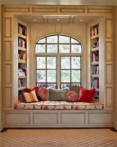 Lovely Window Seating With Beautiful Pillows