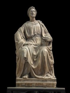New York's Museum of Biblical Art (MoBiA) has received an impressive gift for its birthday: an exhibition of early Renaissance masterpieces, including major works by Donatello that have never been seen outside Florence. Donatello Sculptures, Luke The Evangelist, Florence Cathedral, New York Museums, Biblical Art, New York Art, Santa Maria, Art World, Renaissance