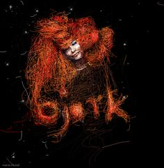 Graphic by Marta Musiał, via Behance Bjork, digital art, Photoshop, graphic, design, art