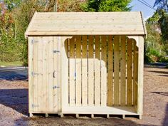 Custom Okeford Logstore with Storage Cupboard 9ft wide x 7ft high