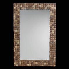 Organic Wall Mirror Made of Coconut Shells  por ARTEMANOdotUS, $295.00